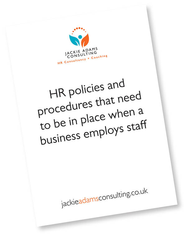 HR policies and procedures for employing staff